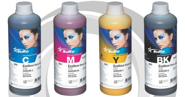 Tinta de Sublimación EcoNova Sure Botella 1 Lt