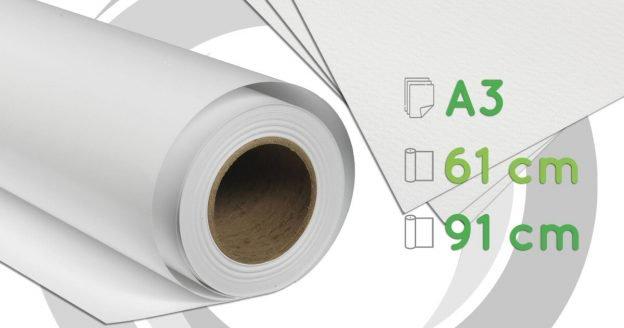 Canvas de algodón para impresiones Inkjet - A3, 61 y 91 cm