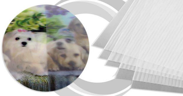 Lámina lenticular 3D de 50x70 cm - 50, 65, 100 LPI